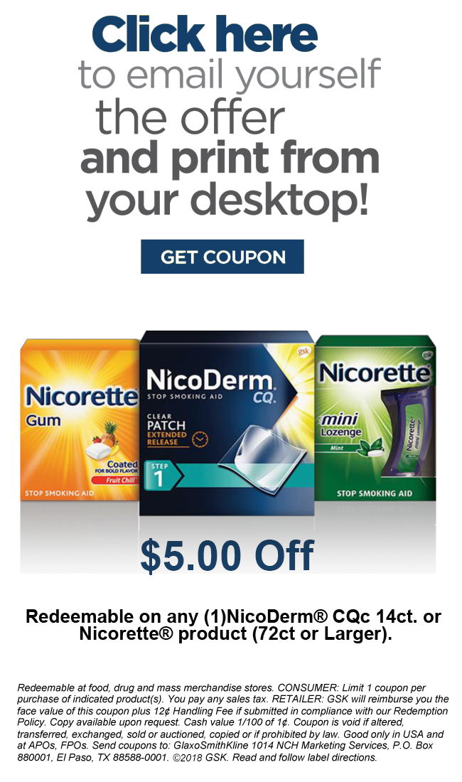 Coupons | Nicorette